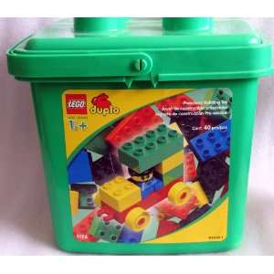 LEGO   DUPLO   40 Pce Set in Green Bucket Container with