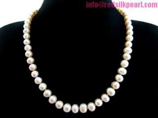 Redsilk 18 genuine pink freshwater pearl necklace