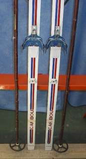 Cross Country 71 Skis 3 pin 183 cm +Poles ROSSIGNOL