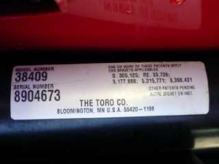 Toro Snow Blower CCR 2400 GTS 4.0 Horse Power New Paddles