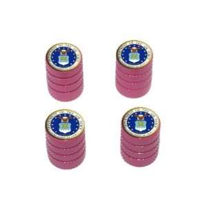 Air Force   Miltary   Tire Rim Wheel Valve Stem Caps   Pink