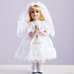 Personalized First Communion Doll   Communion Gifts   Religious Gifts