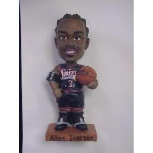Allen Iverson 76ers Black Jersey Bobbin Head Doll:  Sports