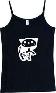 Shirt/Tank   Skeleton Kitty   skull cat kitten bones