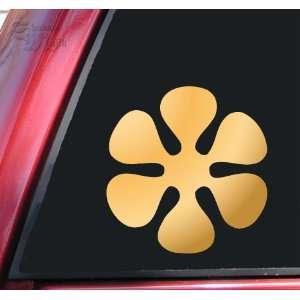Flower #3 Vinyl Decal Sticker   Mirror Gold Automotive