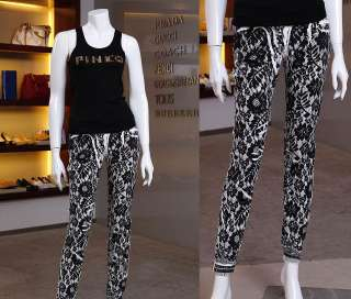 Designer ~ Italy Brand Lace floral Print Pencil Pants Skinny Jeans
