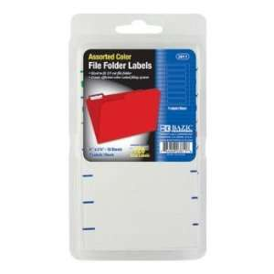 BAZIC Assorted Color File Folder Label Electronics