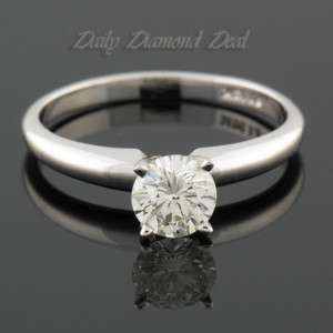 14K White Gold Solitaire Diamond Ring GIA Certified