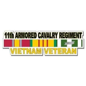 US Army 11th Armored Cavalry Regiment Vietnam Veteran Window Strip