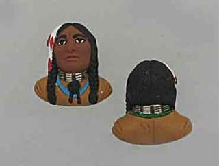 NATIVE AMERICAN BEADS, HAND PAINTED CERAMIC