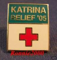 Katrina Relief 05 American Red Cross pin *REDUCED*