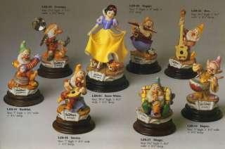 Disney Capodimonte Laurenz Snow White 8 Figures