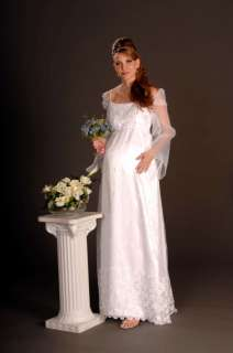 Custom Full Length MATERNITY Wedding Dress Organza