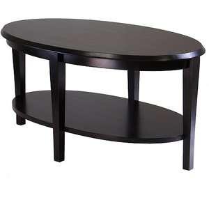 Nadia Oval Coffee Table, Dark Espresso Furniture