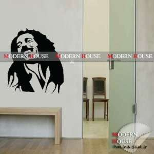 Modern House Bob Marley portrait removable Vinyl Mural Art
