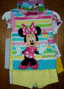 Mickey Mouse Clubhouse Minnie Short Pajama Set Girls 2T