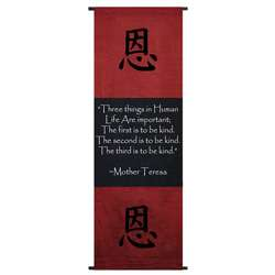 Cotton Kindness Symbol and Mother Teresa Quote Scroll (Indonesia