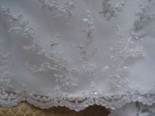 New Alfred Angelo White 16 Wedding Bridal Gown Dress Lace Destination