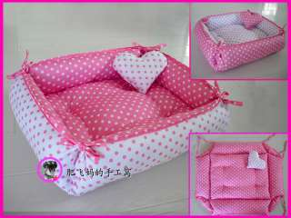 Sweet Princess Dog Cat Handmade Bed House 100% Cotton