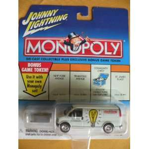 Monopoly Die Cast Metal 164 scale car   Electric Company Utility Van