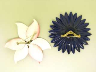 SETS  LOT 11 ENAMEL RETRO flower power PINK BROOCHES CORO EARRINGS