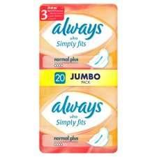 Always Simply Fits Normal Jumbo Pack 20   Groceries   Tesco Groceries