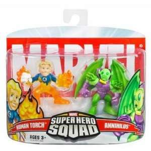 Marvel Super Hero Squad Human Torch & Annhilus Toys