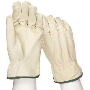 West Chester 9940K Leather Glove, Shirred Elastic Wrist Cuff, 9.75