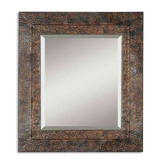 Metal Fleur De Lis Frame Rectangular Wall Mirror