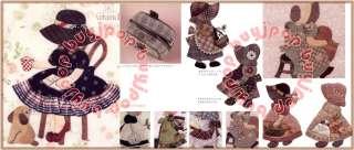 Patchwork Craft Pattern Book Sunbonnet Sue Girl Doll Quilt Bag