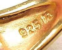 Two Tone / Gold Plated / Sterling Silver Textured Fashion Band Ring