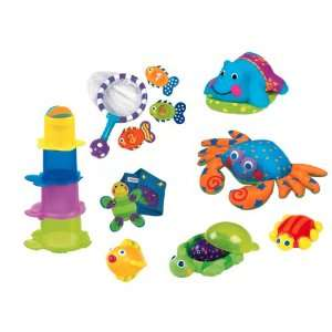 Sassy Baby 7 Piece Bath Gift Set, Multiple Colors Baby