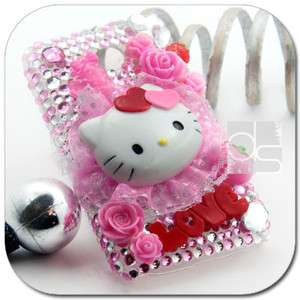 Hello Kitty 3D Bling Crystal Hard Back Case For Huawei Ascend II 2