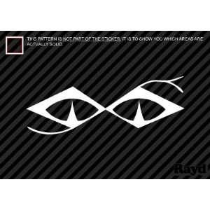 (2x) Snake Eyes Golf   Sticker   Decal   Die Cut