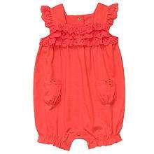 Carters Girls Cotton One Piece   Orange (Newborn)   Carters   Babies