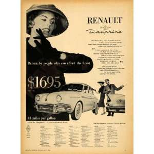 1958 Ad Renault Dauphine Vintage Car John Green Pricing