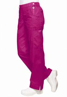 NWT Koi Medical Uniforms ZARA Fuchsia Pink Flare Leg Scrub Pants ALL