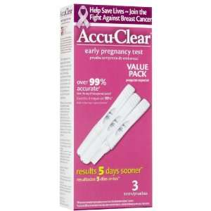 Accu Clear Pregnancy Test 3 count: Health & Personal Care