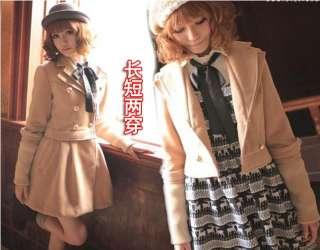 Fashion Korean Women Dual Worn Jacket Coat 0690
