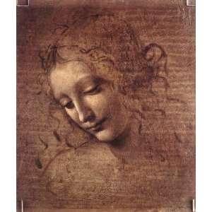 Female head La Scapigliata, By Leonardo da Vinci