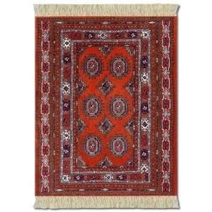 Lextra Burnt Orange Bokhara MouseRug, 10.25 x 7.125 Inches