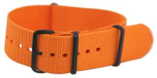 22MM PVD SOLID NYLON NATO Style MILITARY WATCH BAND Strap G 10 FITS