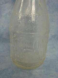 Vintage One Pint Glass Milk Bottle Lot Bowman Dairy Bordens Elch