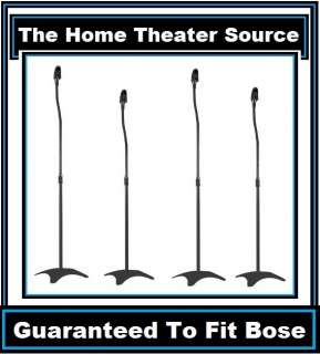 Black Surround Sound Audio Speaker Stand Fit Bose Home Theater