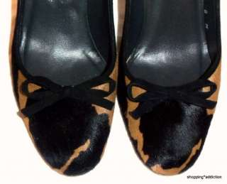 STUART WEITZMAN 8 Brown Black Cow Print Pony Hair Rounded Toe Stiletto
