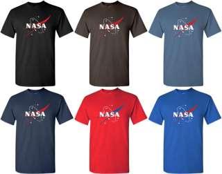 NASA T shirt US COOL Space Tee RETRO SCIENCE GEEK Shirt