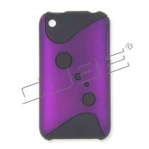 Apple iPhone 3G/3GS Black Dots on Purple Hard Case/Cover
