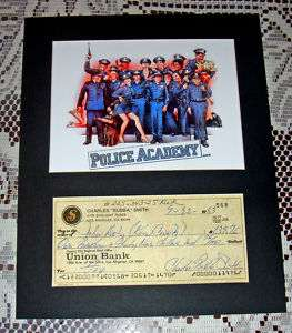 1983 Bubba Smith Signed Personal CHECK Police Academy