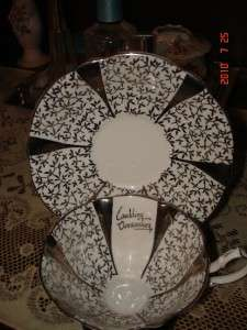 PRINCESS ANNE ANNIVERSARY BONE CHINA CUP SAUCER STAND