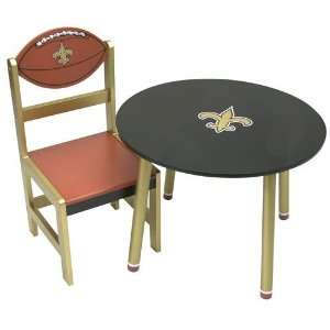 New Orleans Saints Nfl Childrens Wooden Table (23(Dia)X17